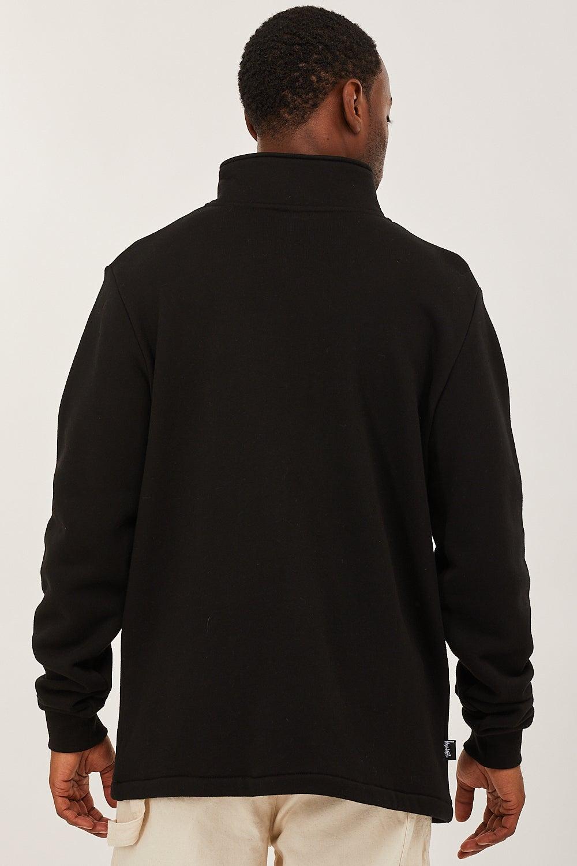 Stussy Panel 1/4 Zip Fleece black